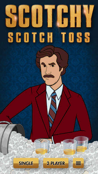 Alcoholic Anchorman Games - Anchorman 2 Scotchy Scotch Toss Lets You Drink with Ron Burgundy