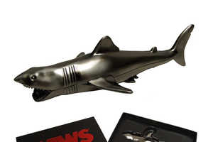 This Jaws Collectible Bottle Opener is Stainless Steel