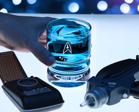 Sleek Sci-Fi Tumblers - These Official Star Trek Glasses Come in Sets of Four