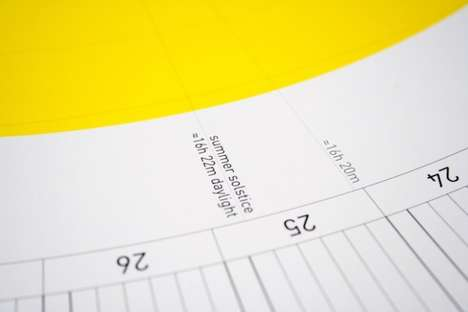 Sun-Spotting Date Trackers - The Circuit Calendar Tells You How Many Hours of Sunlight Each Day Has