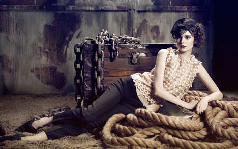 Stylishly Updated Victorian Looks - This Fierro Photography Series Features Elegant Ladylike Fashion