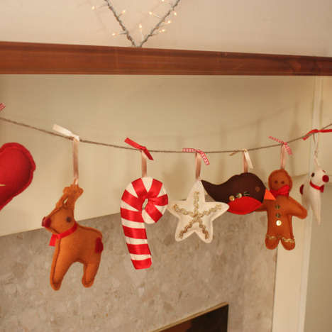 Plushy Holiday Garlands - These Handmade Holiday Themed Garlands Involve Plush Critters