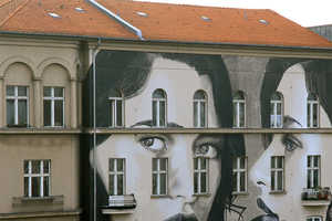 This Striking Portrait Style Mural by Artist RONE Can be Found in Berlin