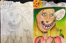 Expertly Colored Children Artworks