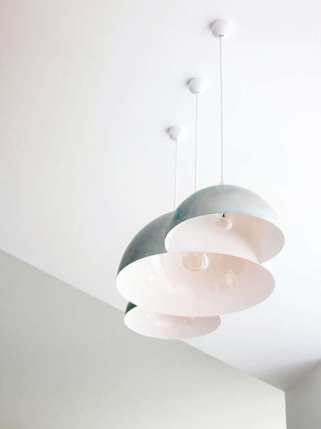 Triply-Melded Ceiling Lamps - The Cloud Pendant Light by Clark Bardsley is Whimsically Contemporary