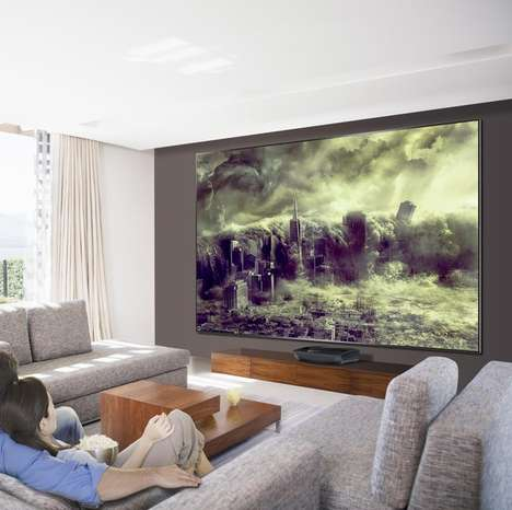 Cinematic Mural TVs - This Projector TV Brings a Cinematic Feel to the Living Room Table