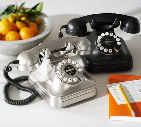 Retro Dial-Imitating Phones - This Retro Phone Will Add a Vintage Vibe to Your Conversations