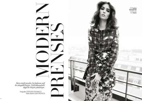Modern Princess Editorials - The Harper's Bazaar Turkey December 2013 Cover Shoot Stars Manon