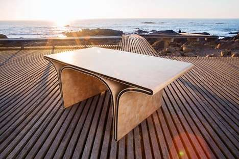 Curvaceous Precious Stone Furniture - The Ono Bridge Table by SUGUI Design Boasts Swarovski Crystals