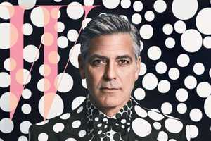 George Clooney Looks Sauve for W Magazine January 2014