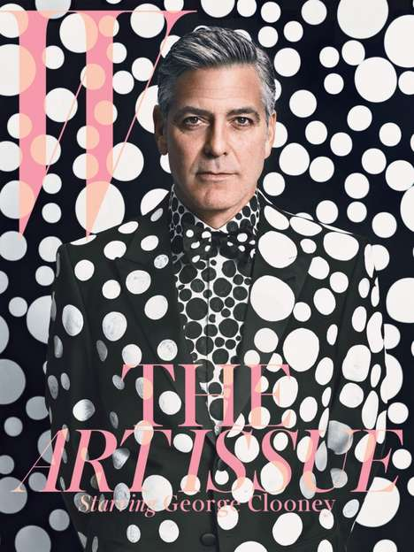 Polka-Dotted Heartthrob Covers - George Clooney Looks Sauve for W Magazine January 2014