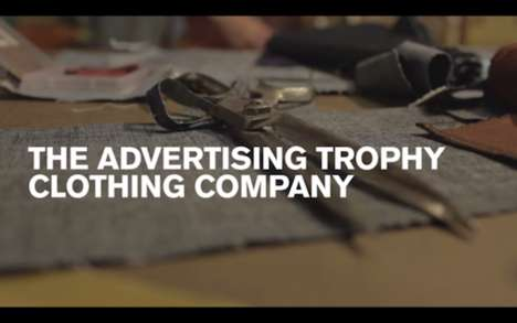Conceited Trophy Clothing Ads - This Company Creates Outfits for the Cannes Lion Trophy