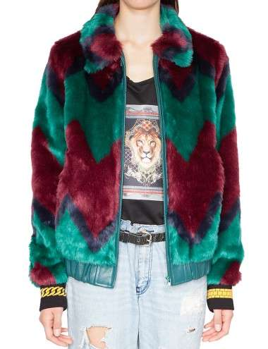 Two-Toned Vibrant Fur Coats - This Colored Fur Jacket Offers an Attention-Grabbing Option for Winter