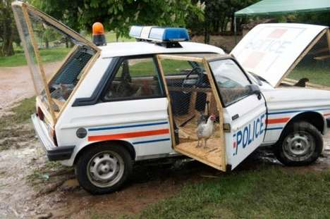 Cop Car Chicken Coops - Benedetto Bufalino