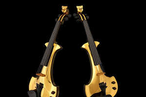 The Gold Plated Violin Plays Tthe Sound of Your Wallet Emptying