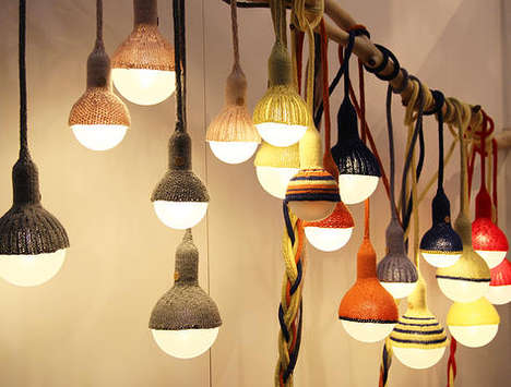 Toque-Wearing Illuminators - The Luna Lana Lamps Look Cozy with Woven Woollen Caps