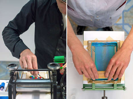 Mobile Miniature Printing Machines - The Letterproeftuin Makes Printing on the Go a Reality