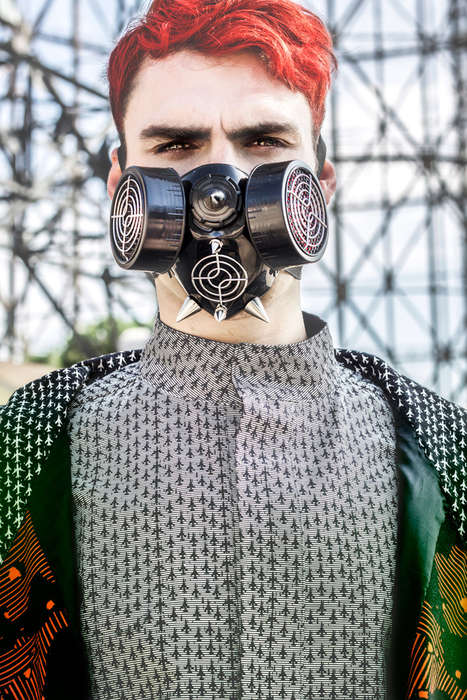 Eccentric Apocalypse Attire - The Guiseppe by Antonio Guzzardo Image Series is Seapunk-Chic
