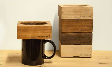 Wood Block Brewers - The Canadiano Coffee Maker Comprises a Mug and a Minimalist Lumber Funnel