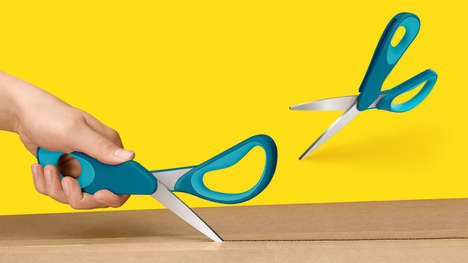 Transforming Utility Blades - The Sheath Scissors Can be Pivoted to Safely Enclose the Second Edge