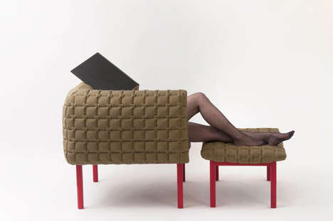 Elegantly Quilted Armchairs - This Quilted Armchair Completes the Ligne Roset Collection