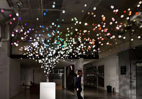Bubbly Beverage Installations - Emmanuelle Moureaux Made The Sparkling Bubbles Display for Coca-Cola