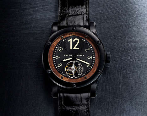 Automobile-Inspired Watches - This Luxurious Ralph Lauren Watch was Inspired by a Black Bugatti