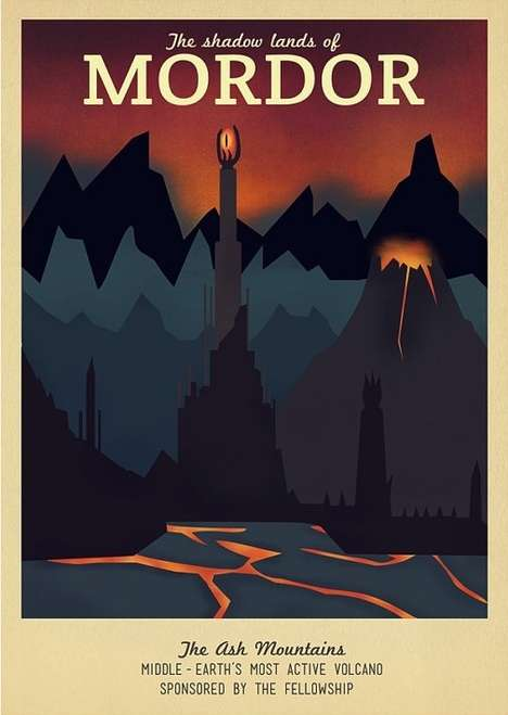 Fantasy-Themed Travel Posters - Designer Ali Xenos Created Posters for Game of Thrones and More