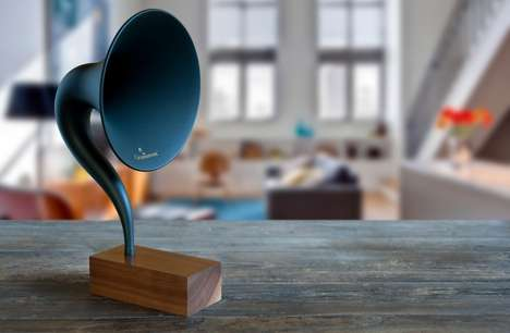 Roaring 20s Speaker Systems - The Gramovox Plays Modern Tunes with a Distinctly Vintage Twist
