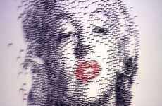 Famous Figure Nail Art - These Portraits by David Foster Were Created Using Nails and a Hammer