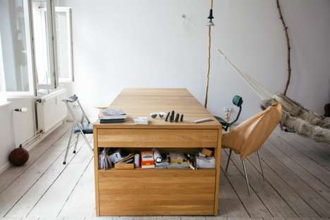 Bed-Desk Hybrids - The BLESS Workbed by Mira Schroder is Great for Small Spaces