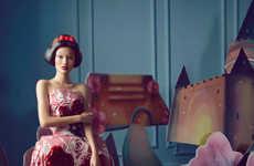 Fairytale Doll Editorials - The Harper's Bazaar China 'Dress of the Dream' Photoshoot Stars Ya