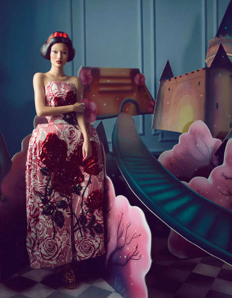Fairytale Doll Editorials - The Harper's Bazaar China 'Dress of the Dream' Photoshoot Stars Ya