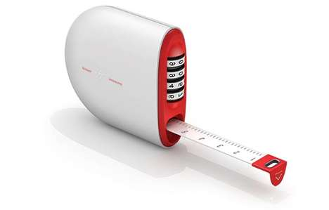 Dimension-Recording Rulers - The Length Stamp Incorporates Numbered Dials to Imprint Measured Values