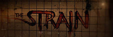 Viral Vampire Television Marketing - The Strain TV Series Entices Viewers with Eerie & Dark Imagery