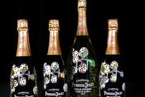 This Artist Crafted a Studded Perrier-Jouet Bottle for Charity