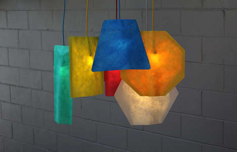 Geometric Lamp Covers - Shapely Pendant Lamps Enhance the Visual Pop of Your Light Fixtures