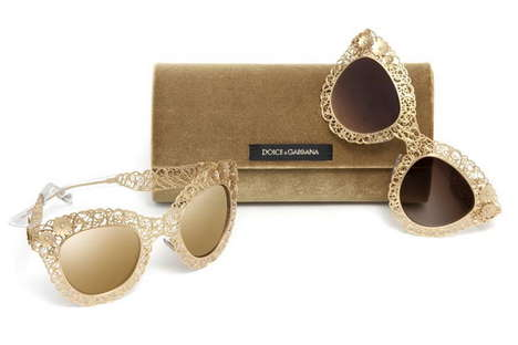 Interlace Eyewear Collections - The Dolce & Gabbana Filigree Eyewear Collection is Fanciful and Posh
