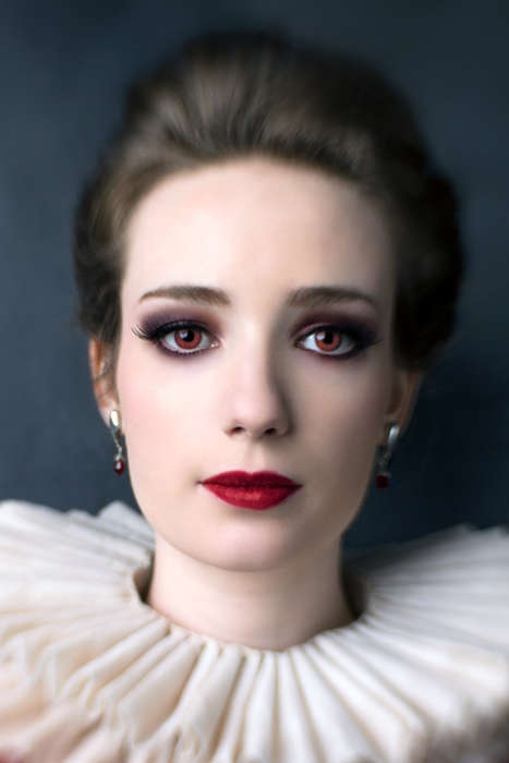 Elegant Historial Vampire Editorials - This 'Blood Countess' Photo Shoot is Scarily Accu
