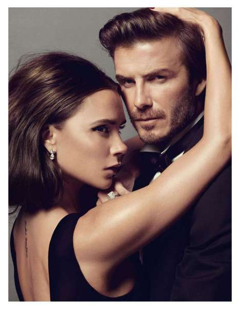 British Power Couple Editorials - Victoria and David Beckham Steam Up Vogue Paris January 2014