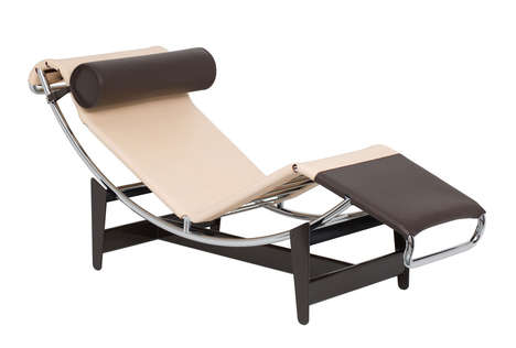 Couture Leather Lounge Chairs - This Chaise Lounge Chair is Inspired by Charlotte Perriand
