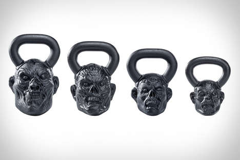 Ghoulish Undead Kettlebells - The Onnit Zombie Bells Will Prepare People for the Coming Apocalypse