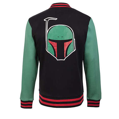 Hip Bounty Hunter Coats - The Star Wars Boba Fett Varsity Jacket is Perfect for Sci-Fi Teens