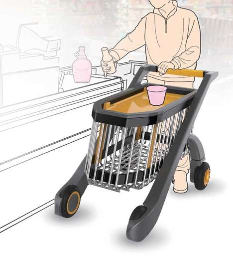 Elevating Concept Trollies - The Drop Cart Adjusts in Depth Depending on the Weight of its Contents