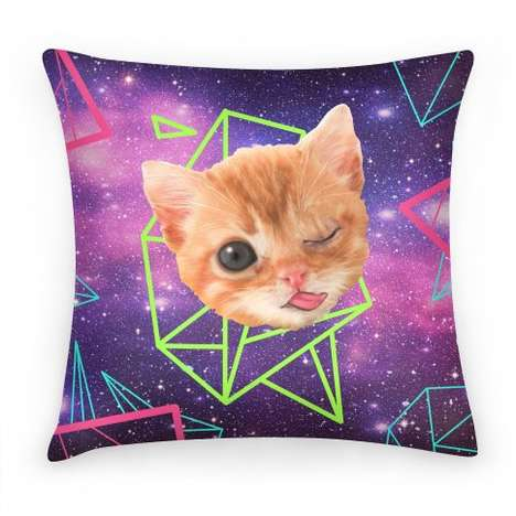 Psychedelic Pop Culture Pillows - This Miley Cyrus Pillow Alludes to the Star