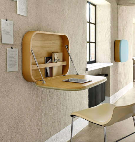 Modern Wall-Mounted Desks - NUBO by Ligne Roset is Sleek and Stylish for Small Spaces