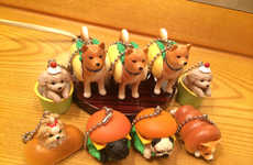 Breaded Canine Keychains - These Bizarre Japanese Dog Toys Are Wrapped in Different Types of Bread