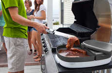 The Porter BBQ Tray Accommodates for Fewer Hands in Food Preparation