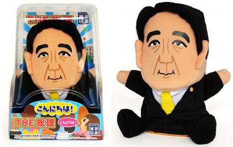 Talking Prime Minister Puppets - The Shinzo Abe Talking Puppet Lets You Control the Prime Minister