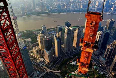 Stunning Aerial Crane Photographs - Wei Gensheng Captures the City of Shanghai Like Never Before